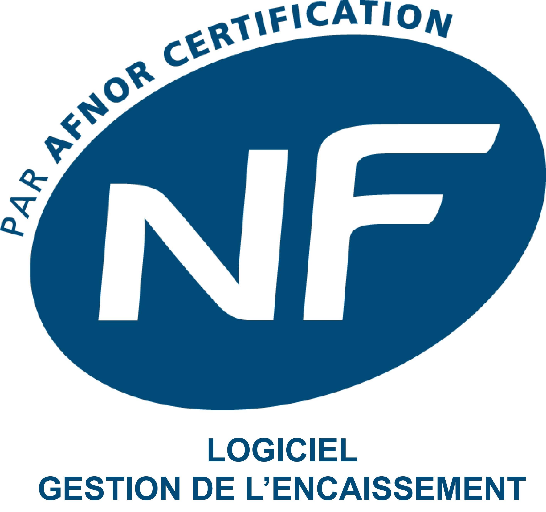 Logo NF 525 - Logiciel Gestion de l'encaissement