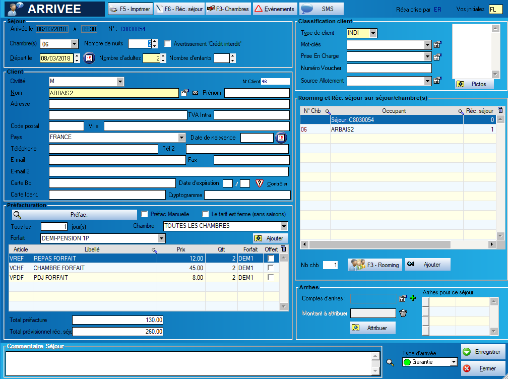 logiciel orchestra hotel gestion des arrivees check-in