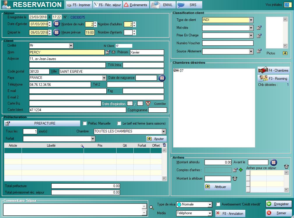 logiciel orchestra hotel gestion des réservations