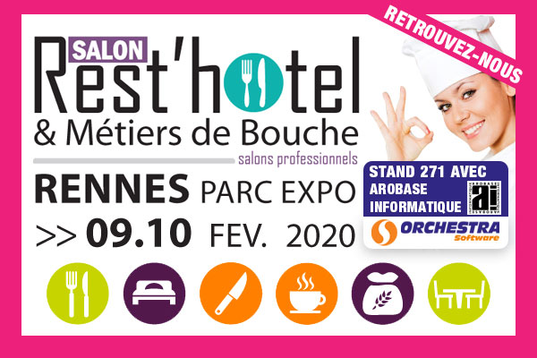 orchestra software sera au salon rest'hotel 2020 de Rennes